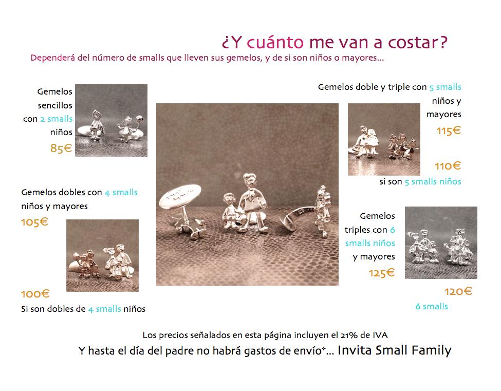 PRECIOS GEMELOS SMALL FAMILY EN PLATA