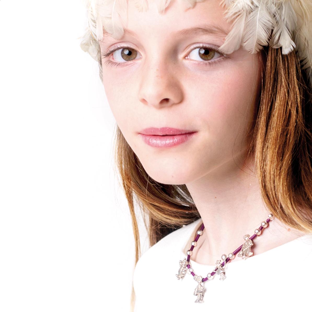 Small Family collar Classic con tu familia en miniatura