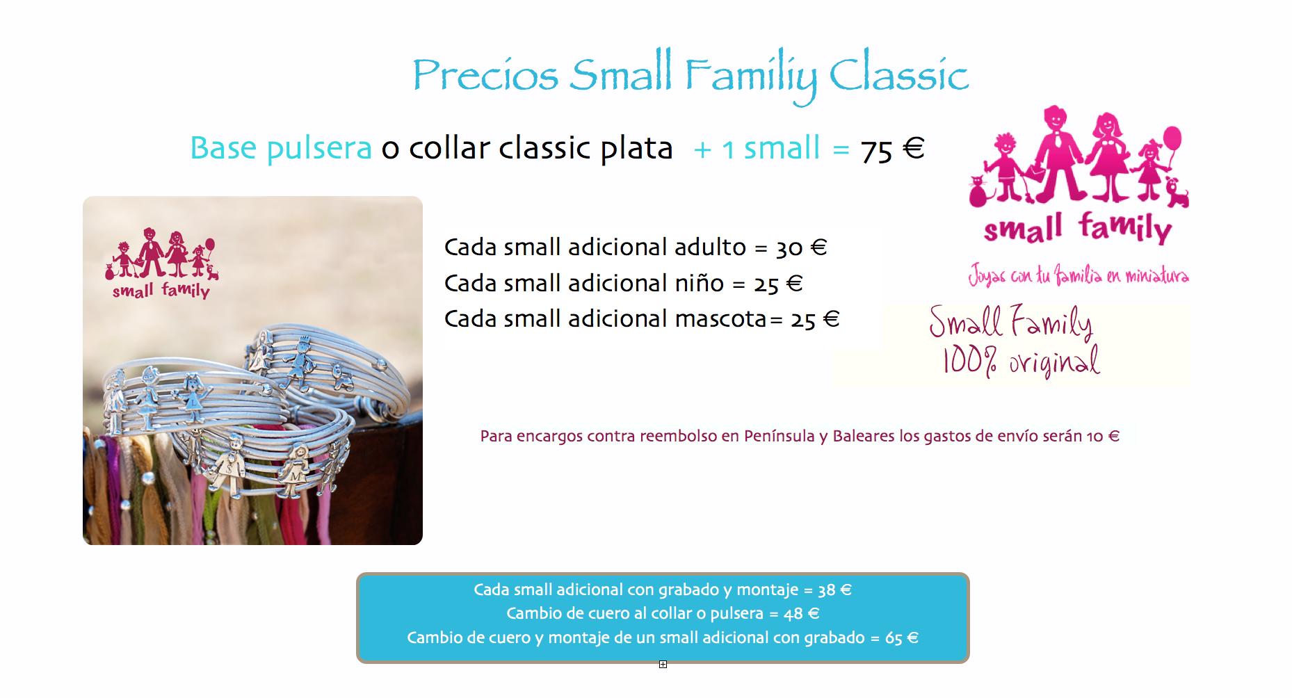 PRECIOS PULSERA SMALL FAMILY CLASSIC