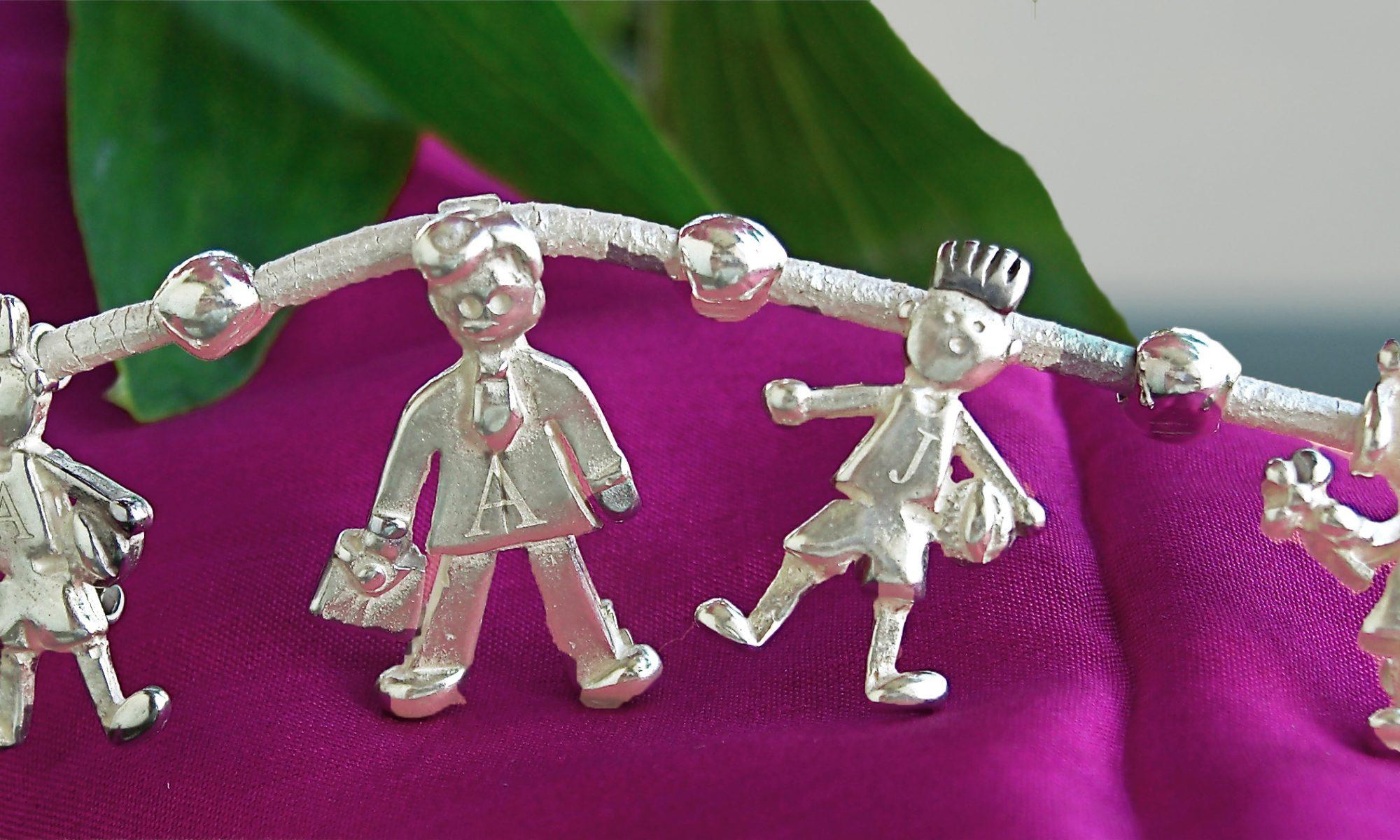 collar small family classic plata